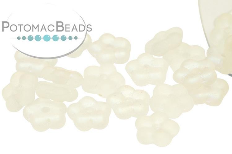 Czech Daisy Beads - Crystal AB Matte 5mm