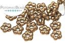 Czech Daisy Beads - Jet Bronze 5mm (closeout)