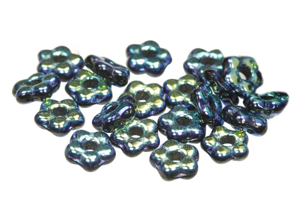 Czech Daisy Beads - Jet AB Full 5mm
