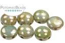 Candy Beads - White Luminous Green 8mm