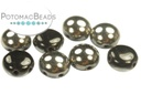 Candy Beads - Jet Chrome 8mm