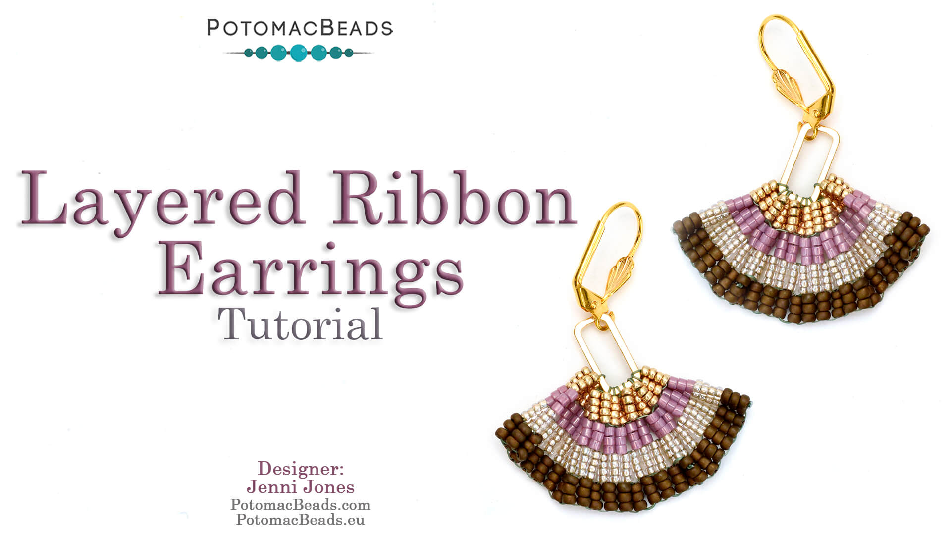 How to Bead / Free Video Tutorials / Earring Projects / Layered Ribbon Earrings Tutorial