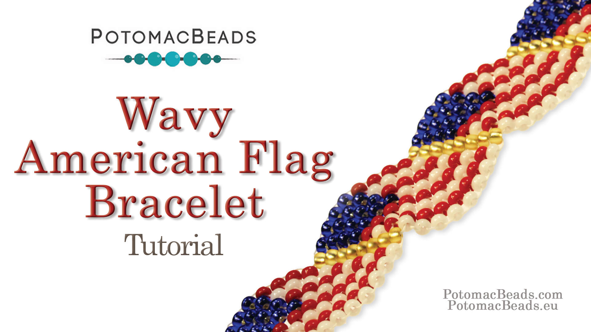 How to Bead Jewelry / Beading Tutorials & Jewel Making Videos / Bracelet Projects / Wavy American Flag Bracelet Tutorial