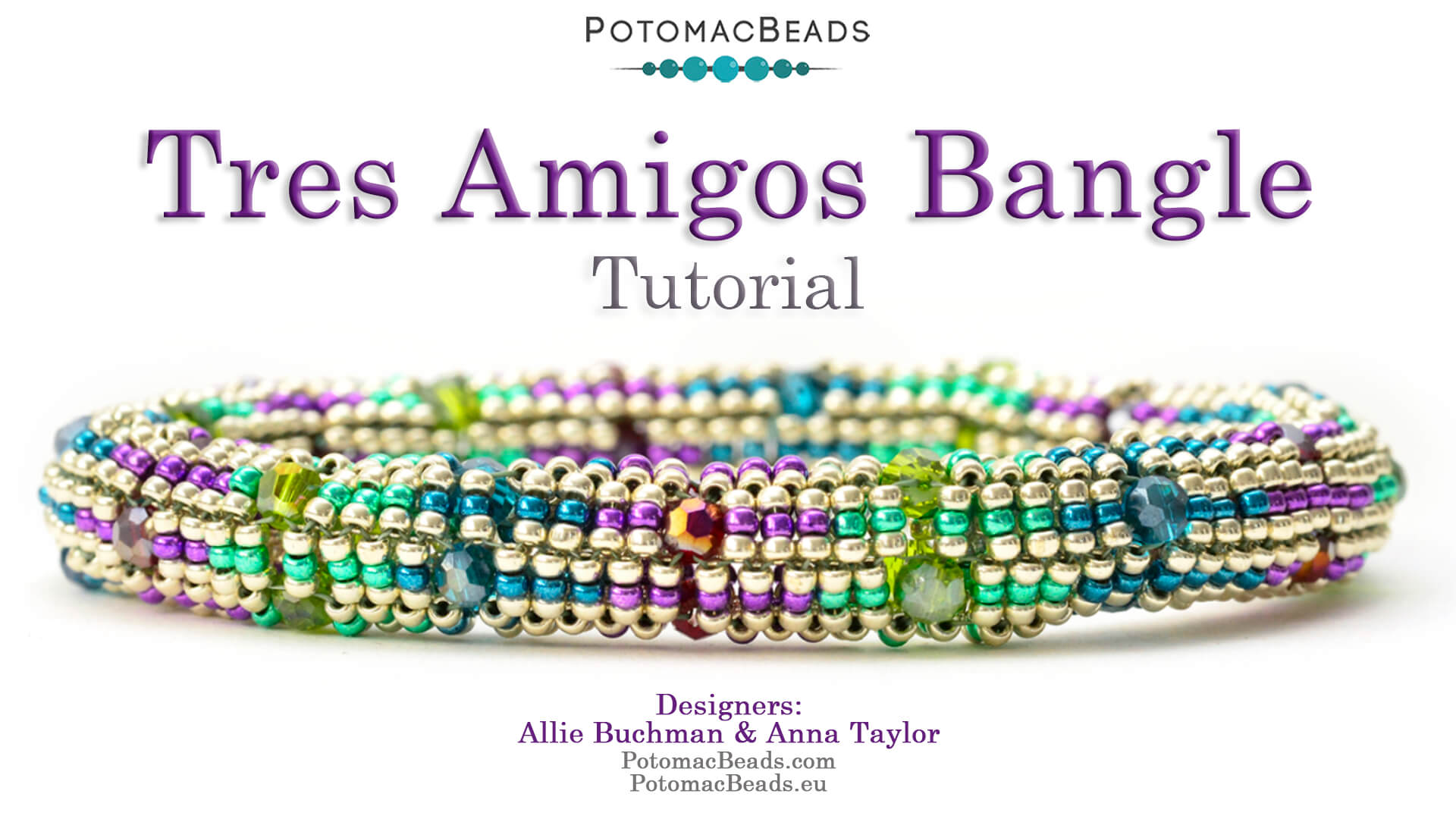 How to Bead Jewelry / Videos Sorted by Beads / Potomac Crystal Videos / Tres Amigos Bangle Tutorial