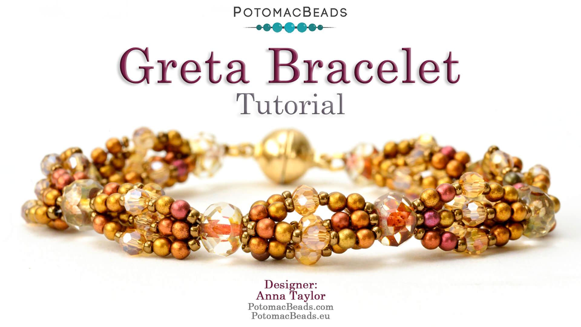 How to Bead / Videos Sorted by Beads / Potomac Crystal Videos / Greta Bracelet  Tutorial