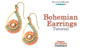 How to Bead / Videos Sorted by Beads / Pearl Videos (Czech & Freshwater) / Bohemian Earrings Tutorial