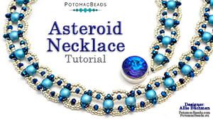 How to Bead Jewelry / Beading Tutorials & Jewel Making Videos / Bead Weaving Tutorials & Necklace Tutorial / Asteroid Necklace Tutorial