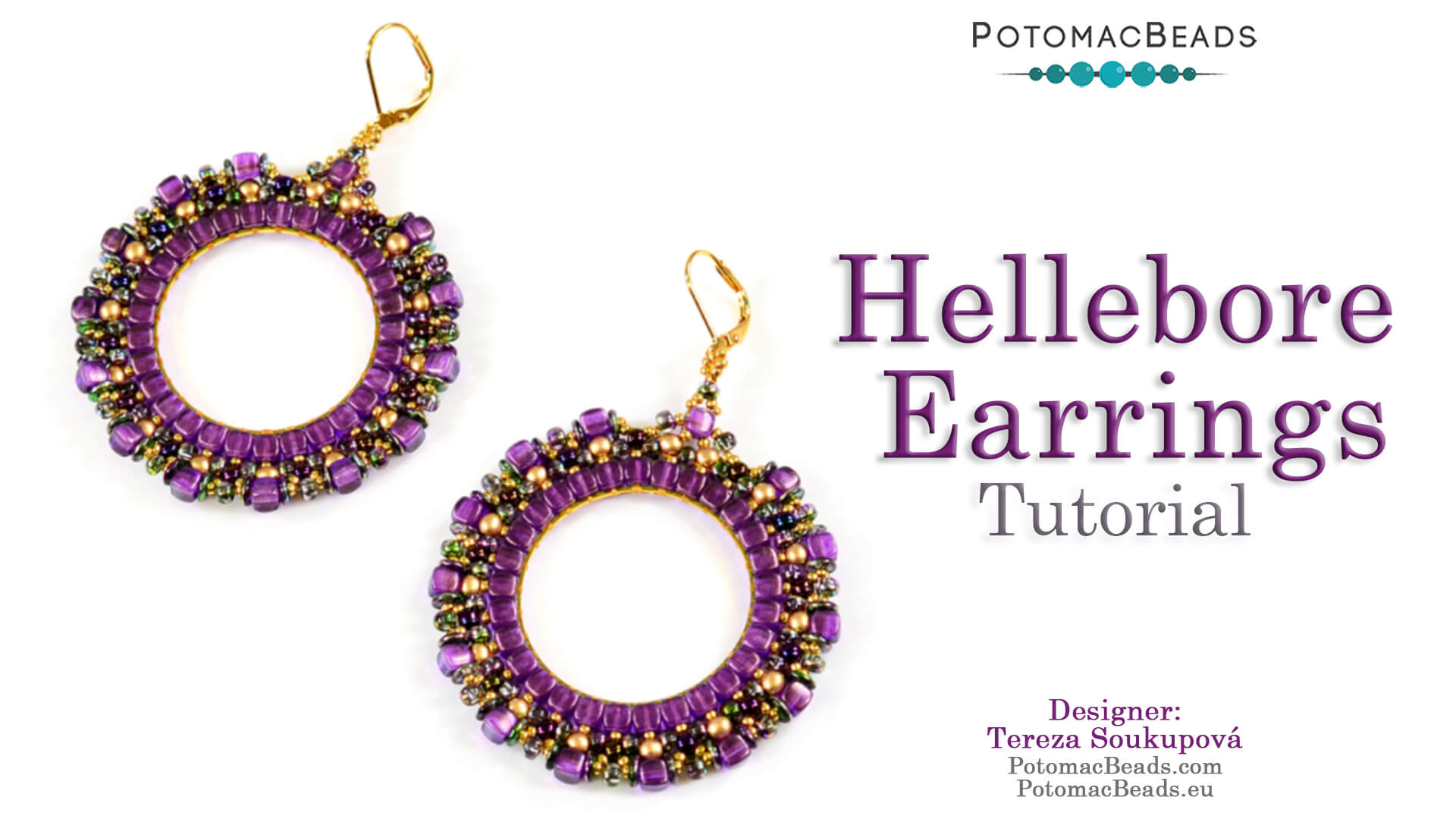 How to Bead / Videos Sorted by Beads / Pearl Videos (Czech & Freshwater) / Hellebore Earrings Tutorial