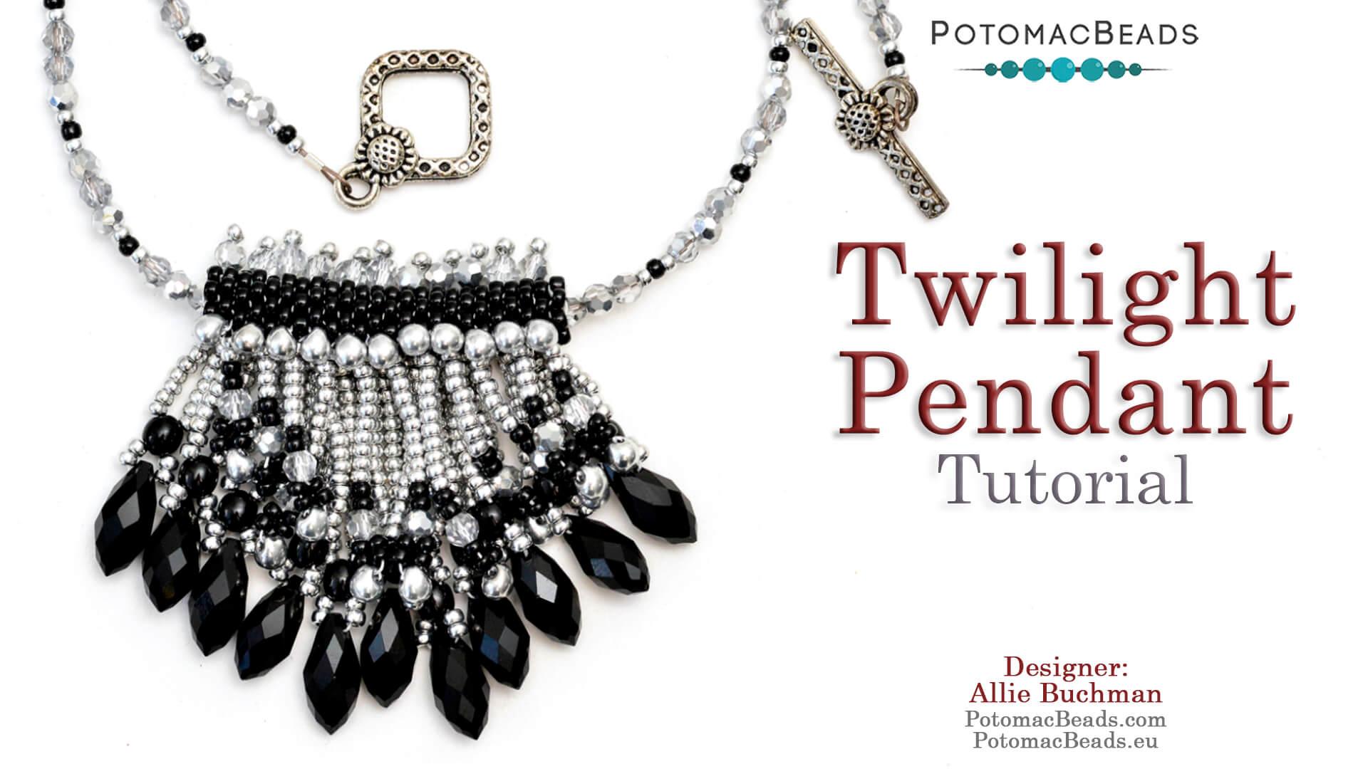 How to Bead Jewelry / Beading Tutorials & Jewel Making Videos / Pendant Projects / Twilight Pendant Tutorial