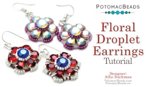 How to Bead / Free Video Tutorials / Earring Projects / Floral Droplet Earrings Tutorial