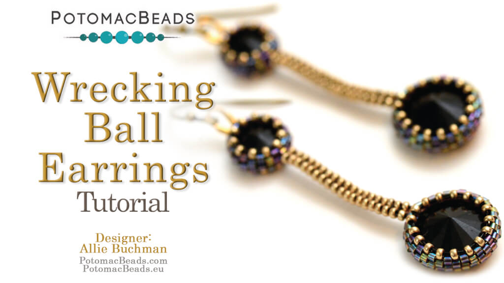 How to Bead Jewelry / Videos Sorted by Beads / Potomac Crystal Videos / Wrecking Ball Earrings Tutorial