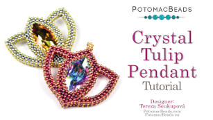 How to Bead / Free Video Tutorials / Pendant Projects / Crystal Tulip Pendant Tutorial