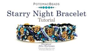 How to Bead Jewelry / Beading Tutorials & Jewel Making Videos / Bracelet Projects / Starry Night Bracelet Tutorial