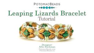 How to Bead Jewelry / Beading Tutorials & Jewel Making Videos / Bracelet Projects / Leaping Lizards Bracelet Tutorial