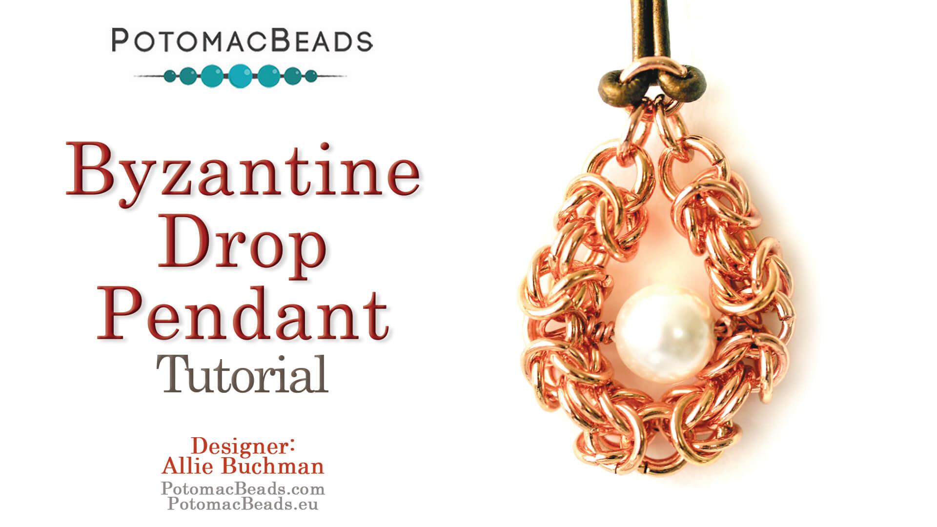 How to Bead Jewelry / Beading Tutorials & Jewel Making Videos / Pendant Projects / Byzantine Drop Pendant Tutorial