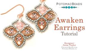 How to Bead Jewelry / Beading Tutorials & Jewel Making Videos / Earring Projects / Awaken Earrings Tutorial
