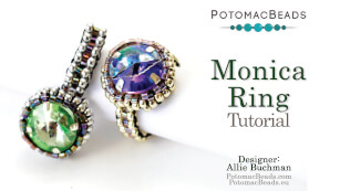 How to Bead Jewelry / Videos Sorted by Beads / Potomac Crystal Videos / Monica Ring Tutorial