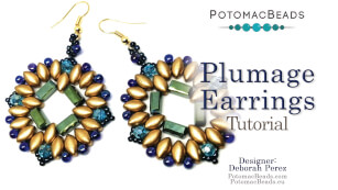 How to Bead Jewelry / Videos Sorted by Beads / Potomac Crystal Videos / Plumage Earrings Tutorial