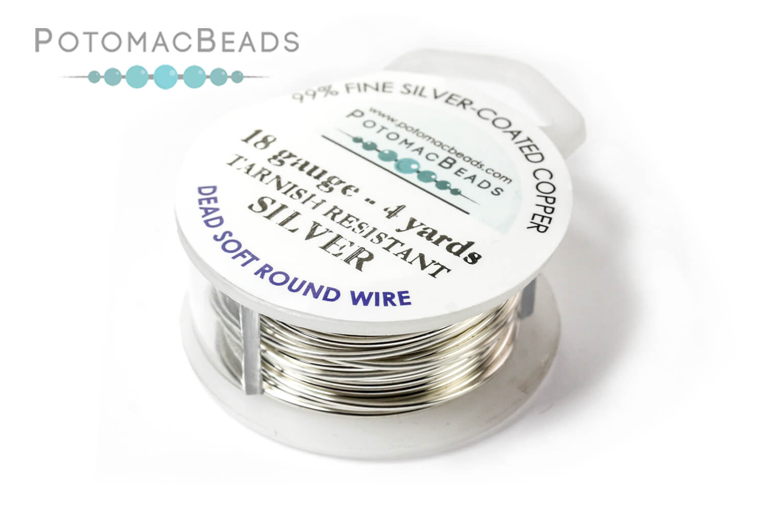 Jewelry Making Supplies & Beads / Metal Beads & Beads Findings / Wire / Silver Plated Wire / Potomax Jeweler's Wire