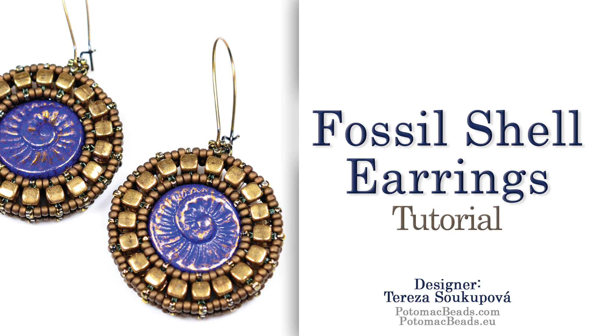 How to Bead / Videos Sorted by Beads / All Other Bead Videos / Fossil Shell Earrings Tutorial