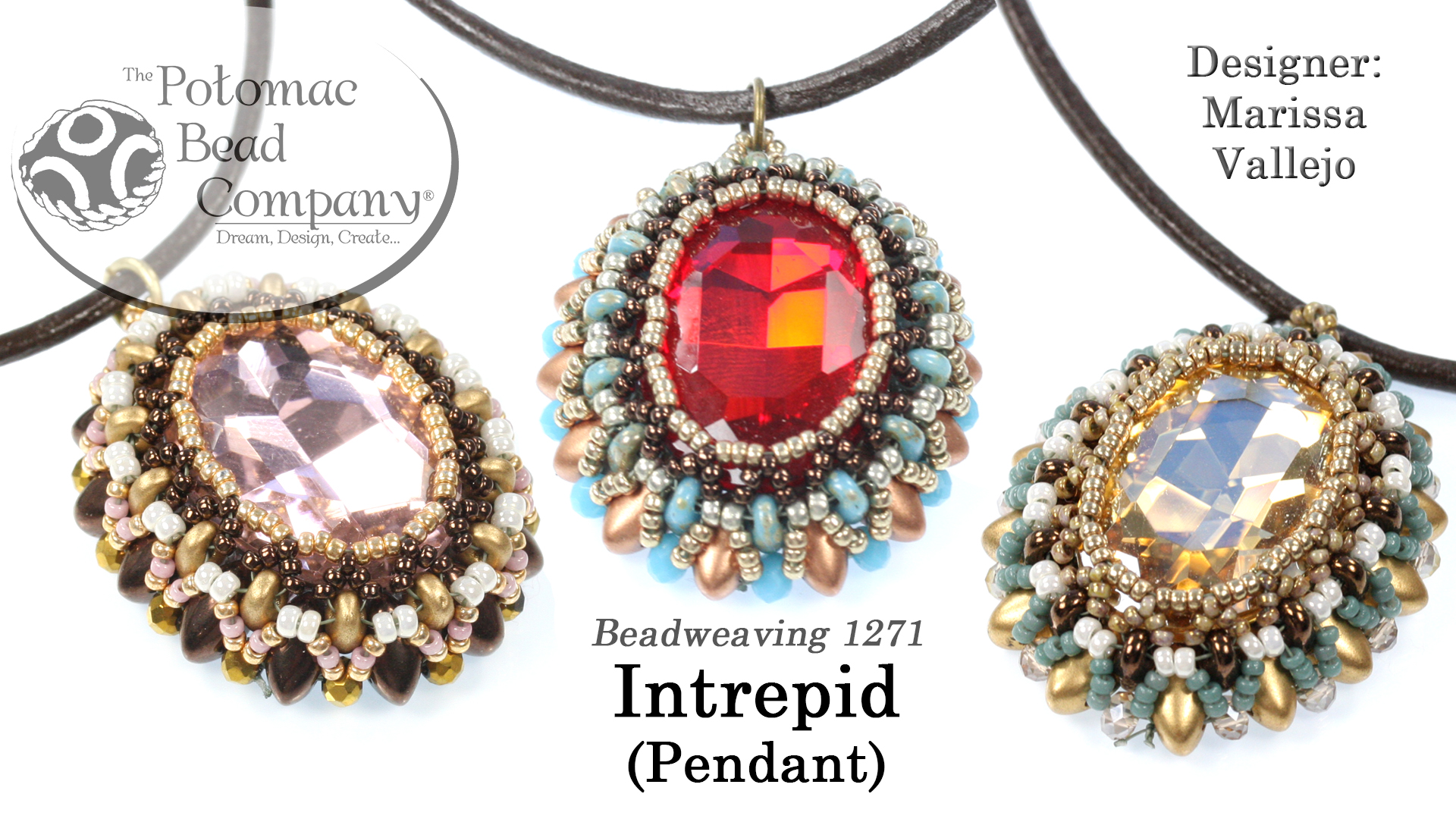 How to Bead Jewelry / Videos Sorted by Beads / Potomac Crystal Videos / Intrepid Pendant Tutorial