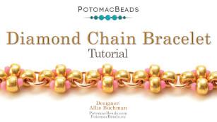 How to Bead Jewelry / Beading Tutorials & Jewel Making Videos / Bracelet Projects / Diamond Chain Bracelet Tutorial