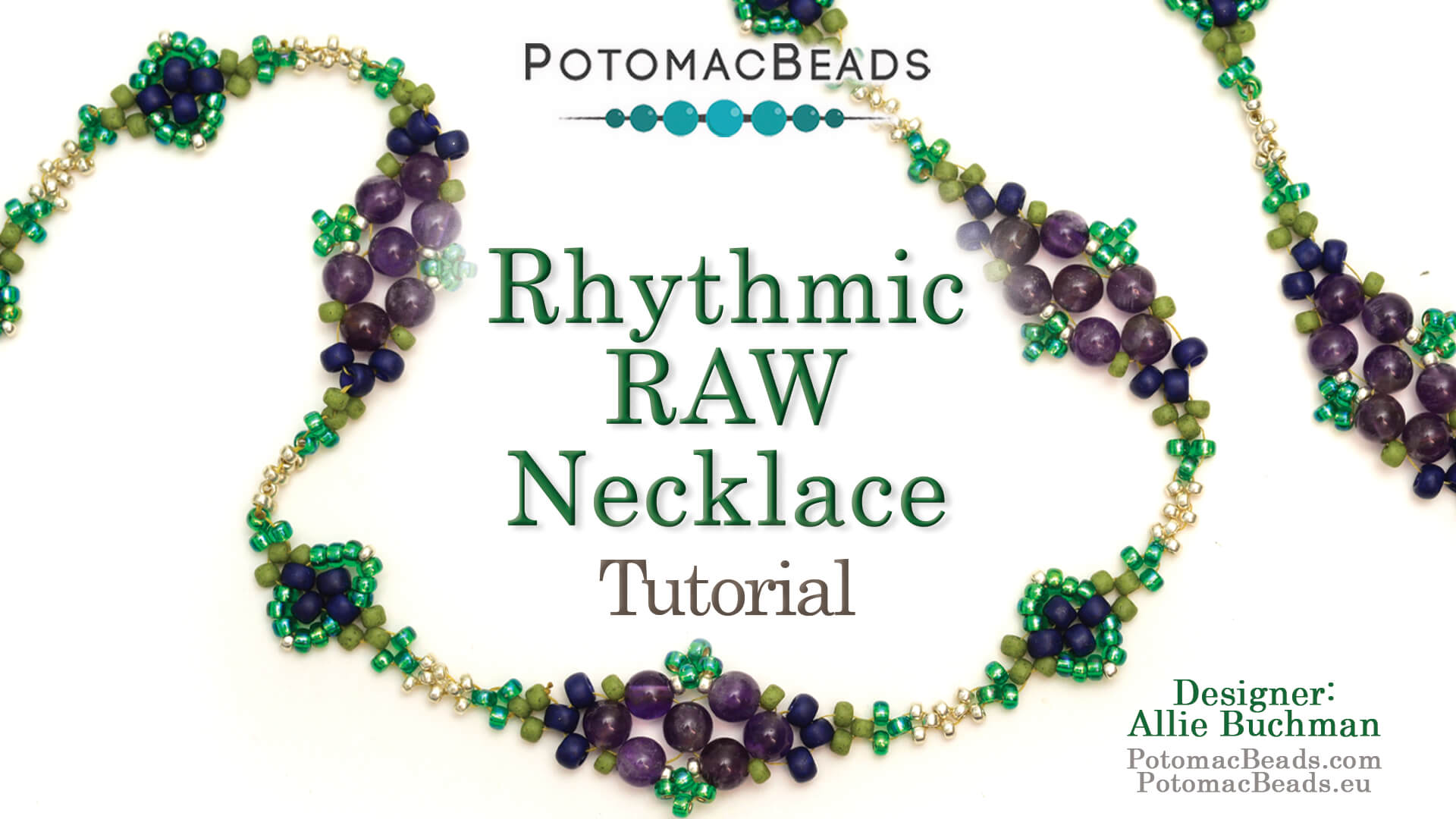 How to Bead / Free Video Tutorials / Necklace Projects / Rhythmic Raw Necklace Tutorial