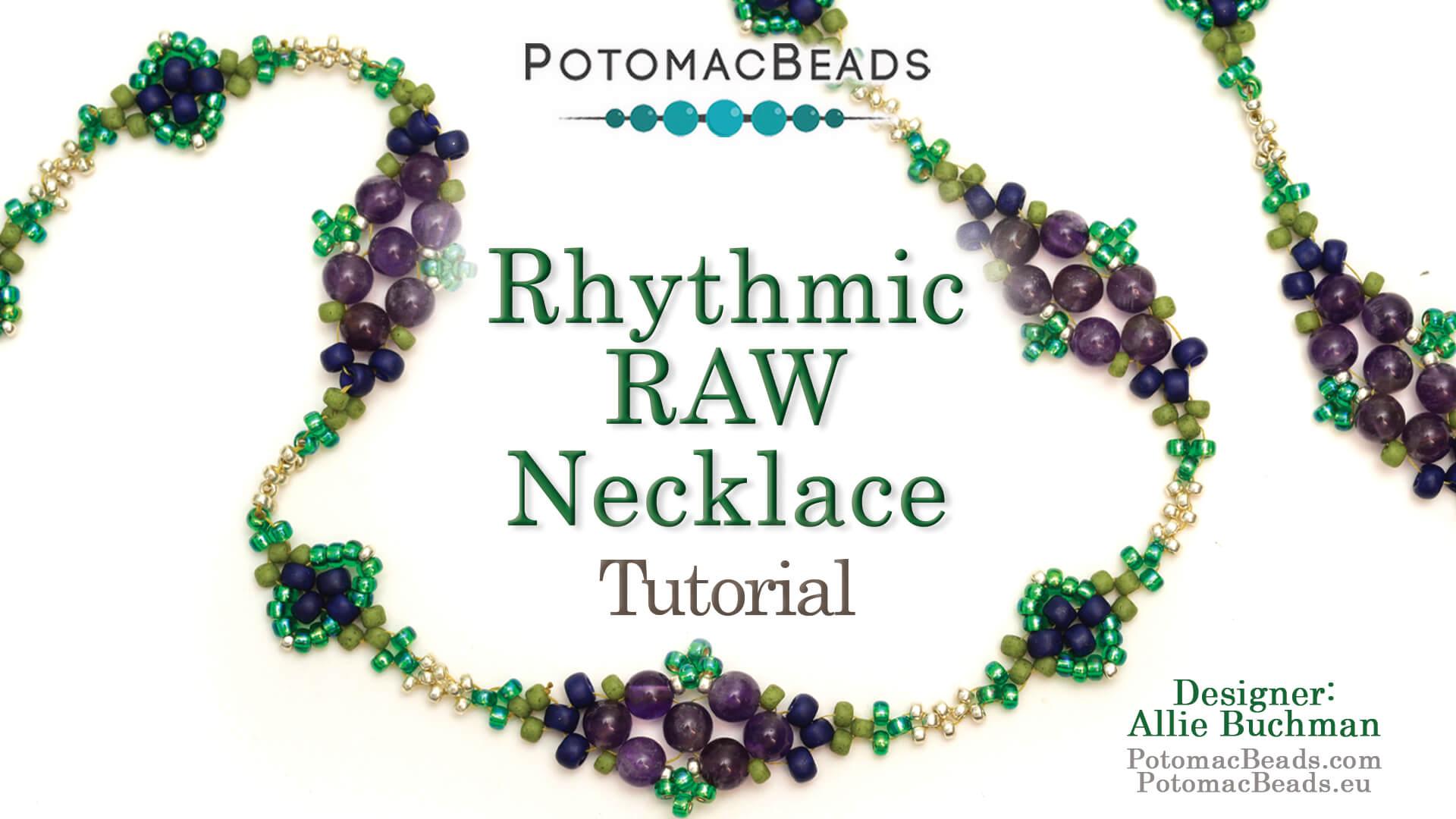 How to Bead Jewelry / Beading Tutorials & Jewel Making Videos / Bead Weaving Tutorials & Necklace Tutorial / Rhythmic Raw Necklace Tutorial