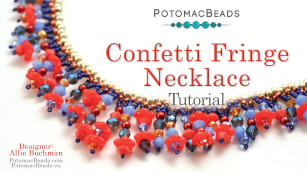 How to Bead Jewelry / Videos Sorted by Beads / Potomac Crystal Videos / Confetti Fringe Necklace Tutorial
