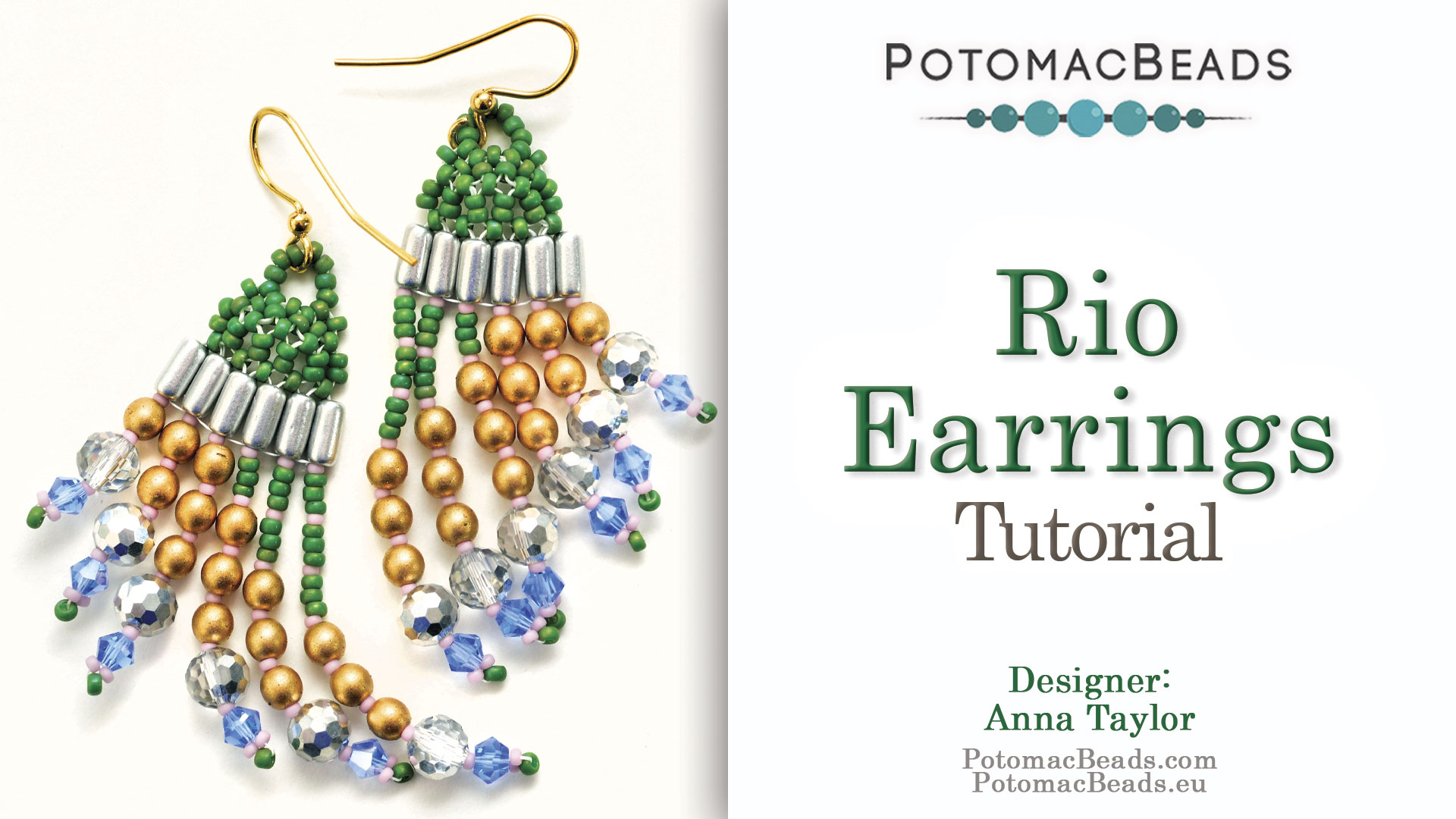 How to Bead Jewelry / Videos Sorted by Beads / Potomac Crystal Videos / Rio Earrings Tutorial