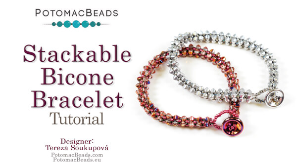 How to Bead Jewelry / Beading Tutorials & Jewel Making Videos / Bracelet Projects / Stackable Bicone Bracelet
