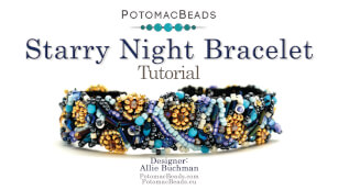 How to Bead / Videos Sorted by Beads / Potomac Crystal Videos / Starry Night Bracelet Tutorial