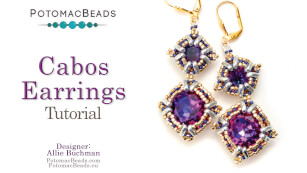 How to Bead / Videos Sorted by Beads / CzechMates Bead Videos / Cabos Earrings Tutorial