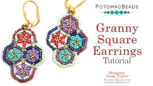 How to Bead / Free Video Tutorials / Earring Projects / Granny Square Earrings Tutorial