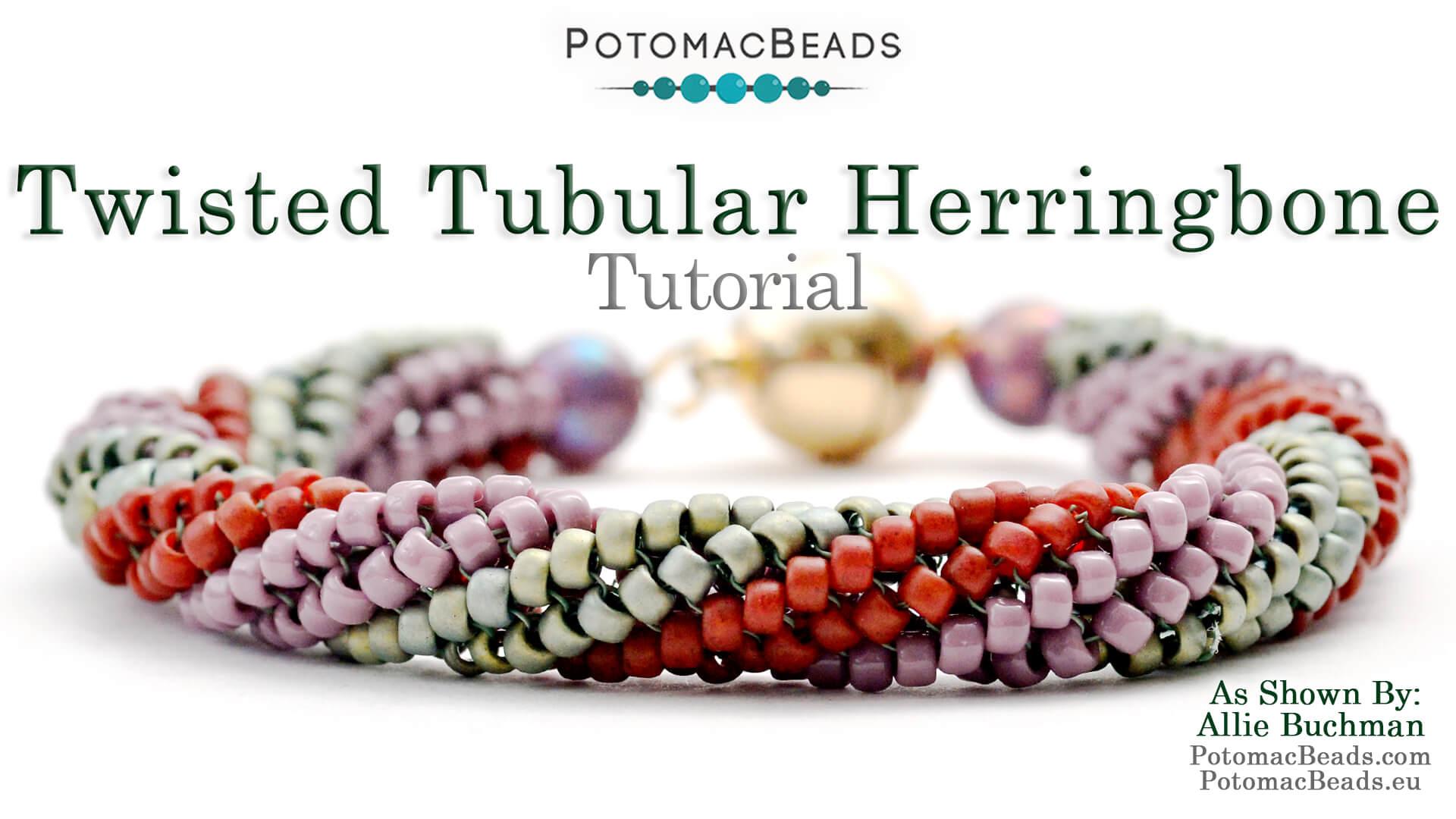 How to Bead Jewelry / Beading Tutorials & Jewel Making Videos / Bracelet Projects / Twisted Tubular Herringbone Tutorial