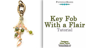 How to Bead / Free Video Tutorials / Stringing & Knotting Projects / Key Fob with Flair Tutorial