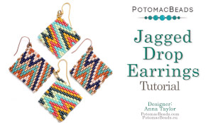 How to Bead / Free Video Tutorials / Earring Projects / Jagged Drop Earrings Tutorial