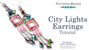 How to Bead Jewelry / Videos Sorted by Beads / Potomac Crystal Videos / City Lights Earrings Tutorial
