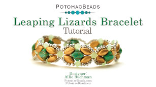 How to Bead Jewelry / Videos Sorted by Beads / Potomac Crystal Videos / Leaping Lizards Bracelet Tutorial