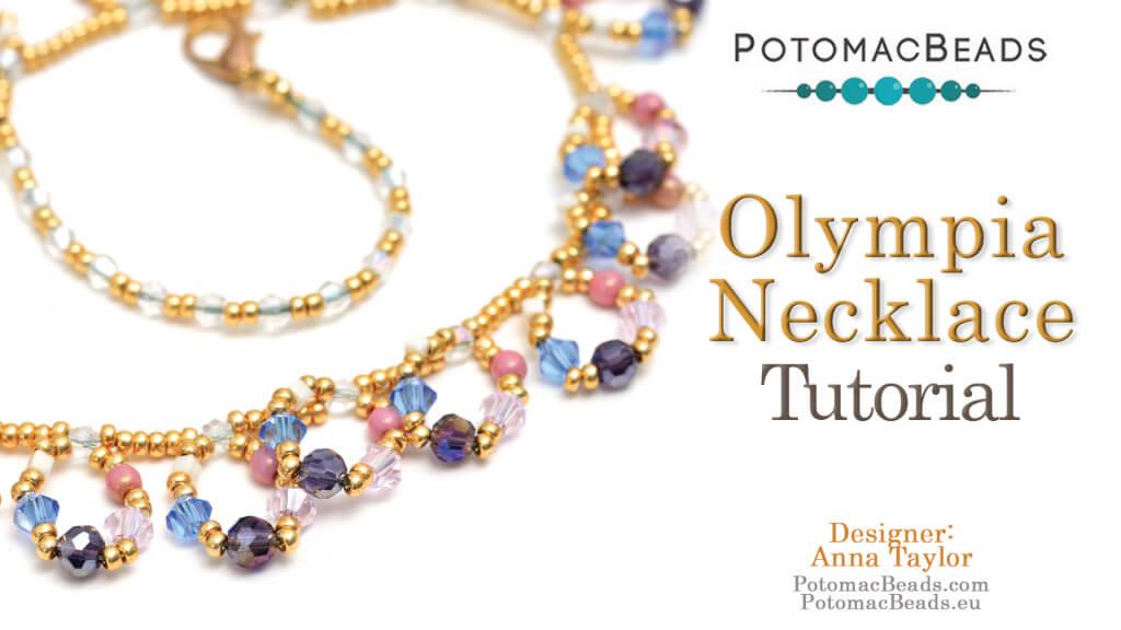 How to Bead Jewelry / Beading Tutorials & Jewel Making Videos / Bead Weaving Tutorials & Necklace Tutorial / Olympia Necklace Tutorial