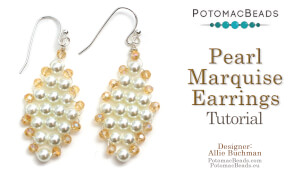 How to Bead Jewelry / Beading Tutorials & Jewel Making Videos / Earring Projects / Pearl Marquise Earrings Tutorial