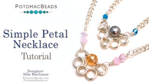 How to Bead Jewelry / Videos Sorted by Beads / Potomac Crystal Videos / Simple Petal Necklace Tutorial