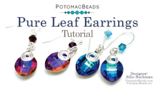How to Bead Jewelry / Videos Sorted by Beads / Potomac Crystal Videos / Pure Leaf Earrings Tutorial