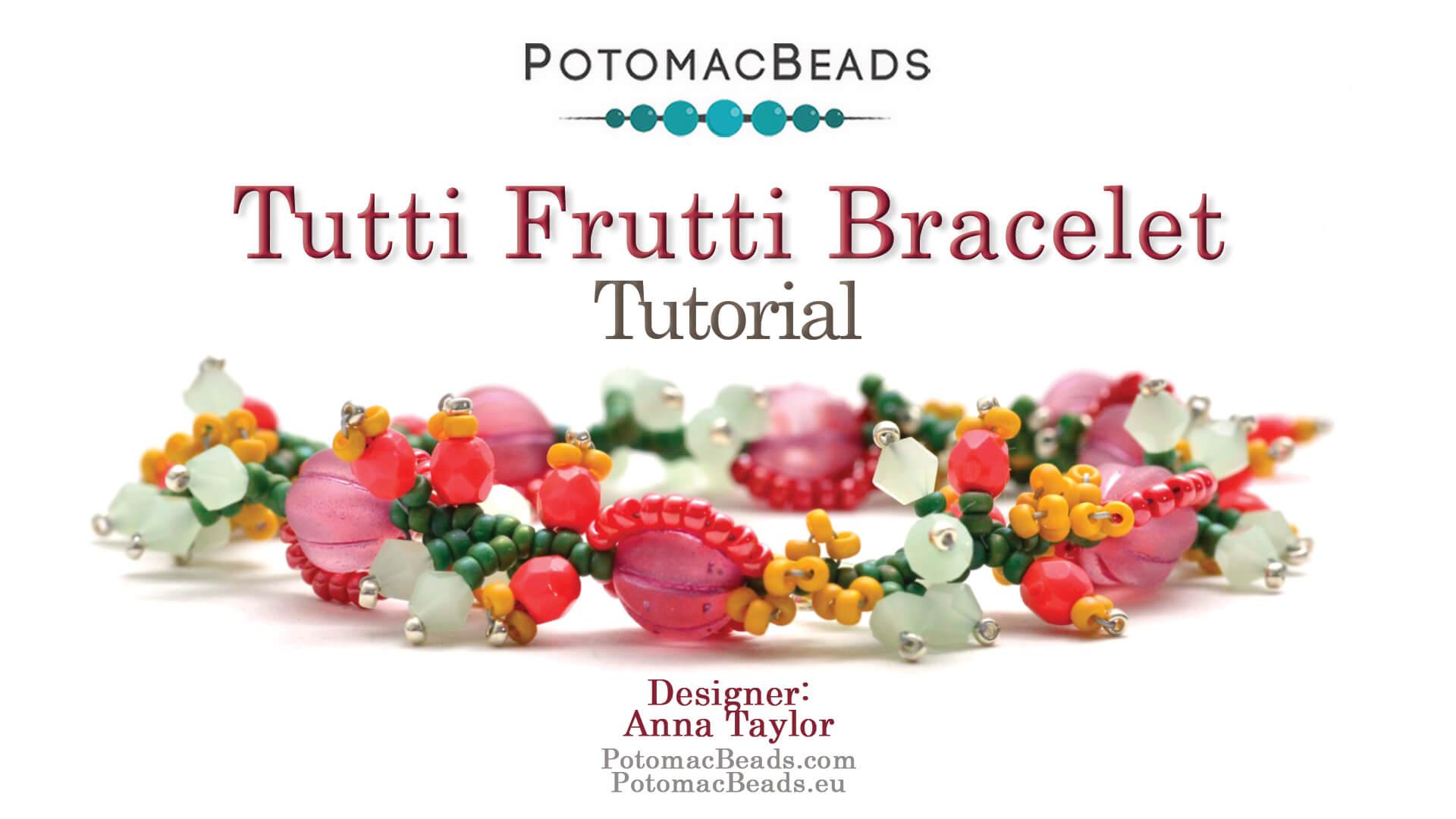 How to Bead Jewelry / Beading Tutorials & Jewel Making Videos / Bracelet Projects / Tutti Frutti Bracelet Tutorial