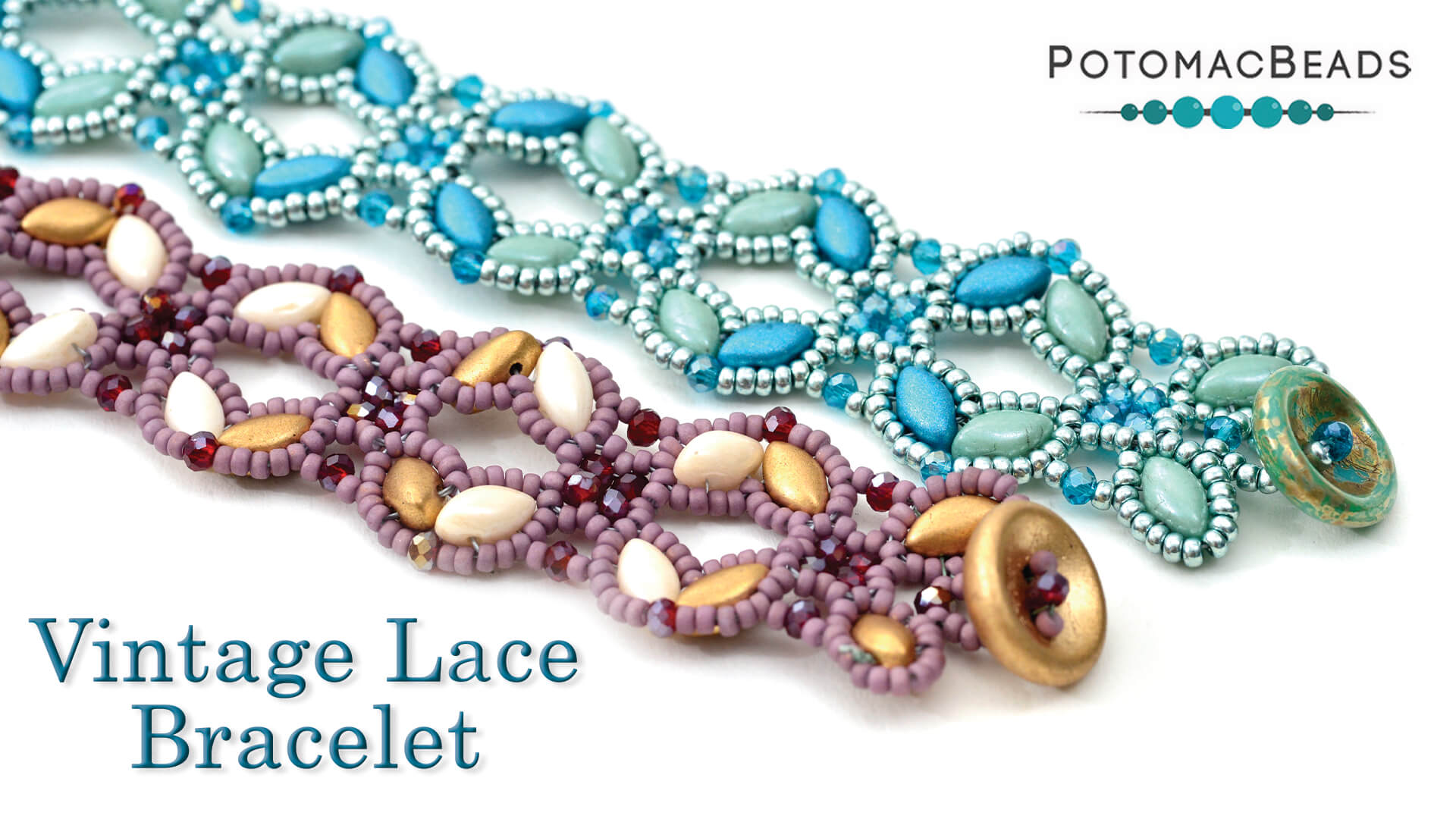 How to Bead Jewelry / Beading Tutorials & Jewel Making Videos / Bracelet Projects / Vintage Lace Bracelet Tutorial