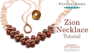 How to Bead Jewelry / Beading Tutorials & Jewel Making Videos / Bead Weaving Tutorials & Necklace Tutorial / Zion Necklace Tutorial
