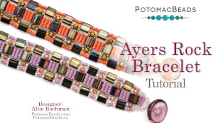 How to Bead Jewelry / Videos Sorted by Beads / Potomac Crystal Videos / Ayers Rock Bracelet Tutorial