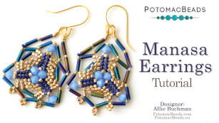 How to Bead Jewelry / Videos Sorted by Beads / Potomac Crystal Videos / Manasa Earrings Tutorial