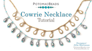 How to Bead Jewelry / Beading Tutorials & Jewel Making Videos / Bead Weaving Tutorials & Necklace Tutorial / Cowrie Necklace Tutorial