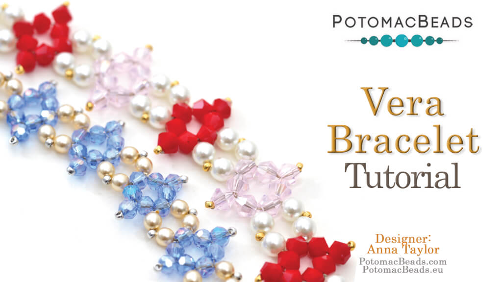 How to Bead Jewelry / Videos Sorted by Beads / Potomac Crystal Videos / Vera Bracelet Tutorial